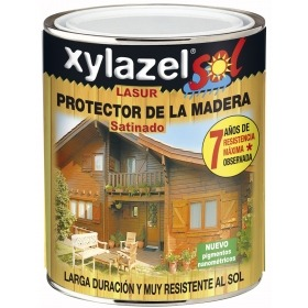 Lasur al agua satinado nogal 750ml Xylazel