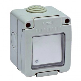 Pulsador timbre 10A-250V estanco IP55