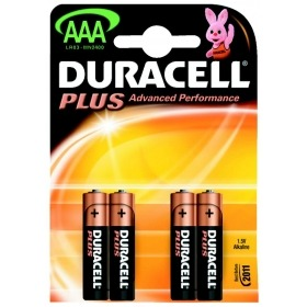 Pilas Duracell Plus alcalina LR03 AAA 1,5V (Blister 4u)